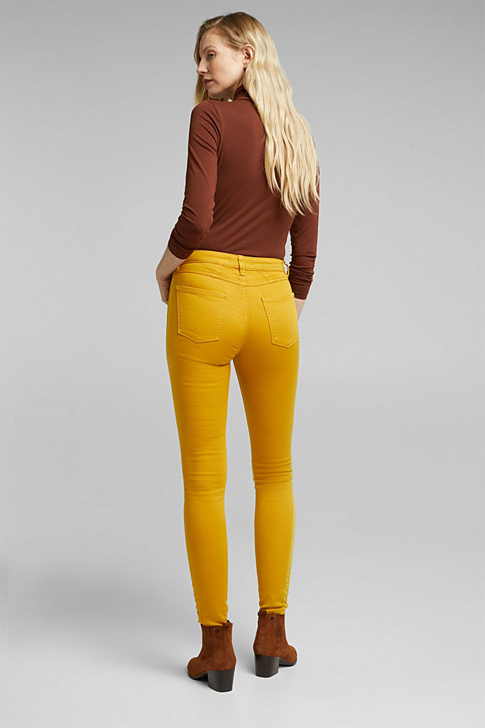 Stretch jeans containing organic cotton, BRASS YELLOW, detail image number 3