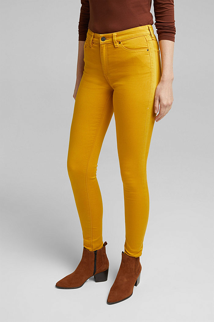 Stretch jeans containing organic cotton, BRASS YELLOW, detail image number 5