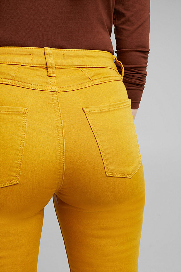 Stretch jeans containing organic cotton, BRASS YELLOW, detail image number 2