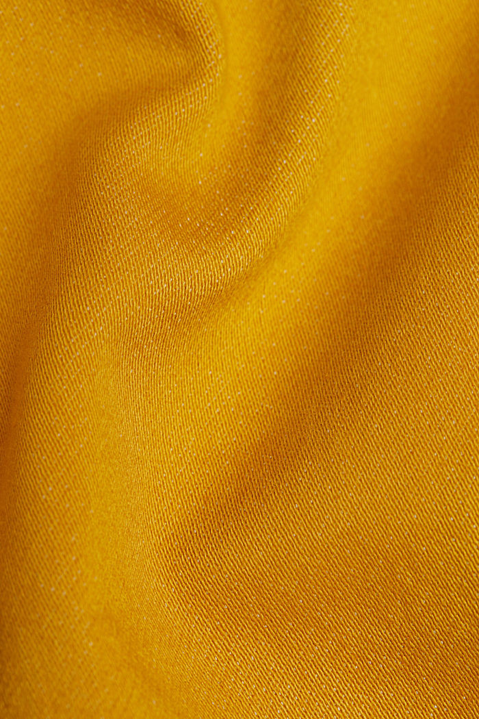 Stretch jeans containing organic cotton, BRASS YELLOW, detail image number 4