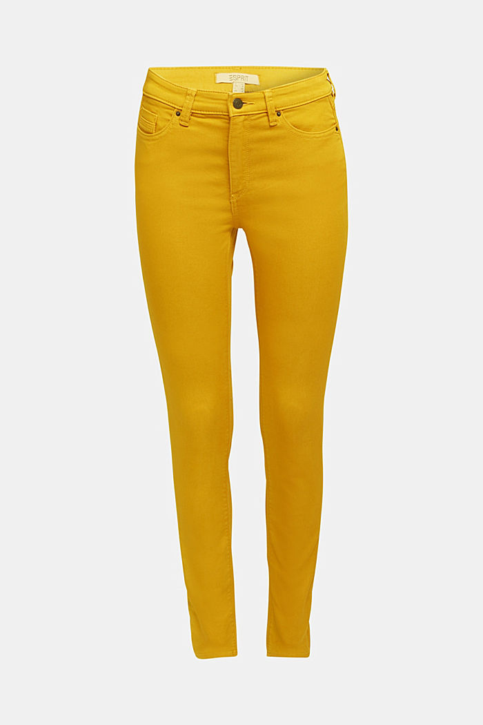 Stretch jeans containing organic cotton, BRASS YELLOW, detail image number 6