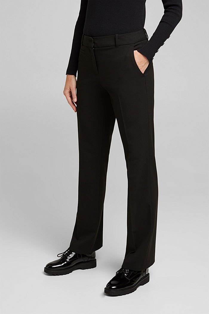 Jersey trousers with stretch for comfort