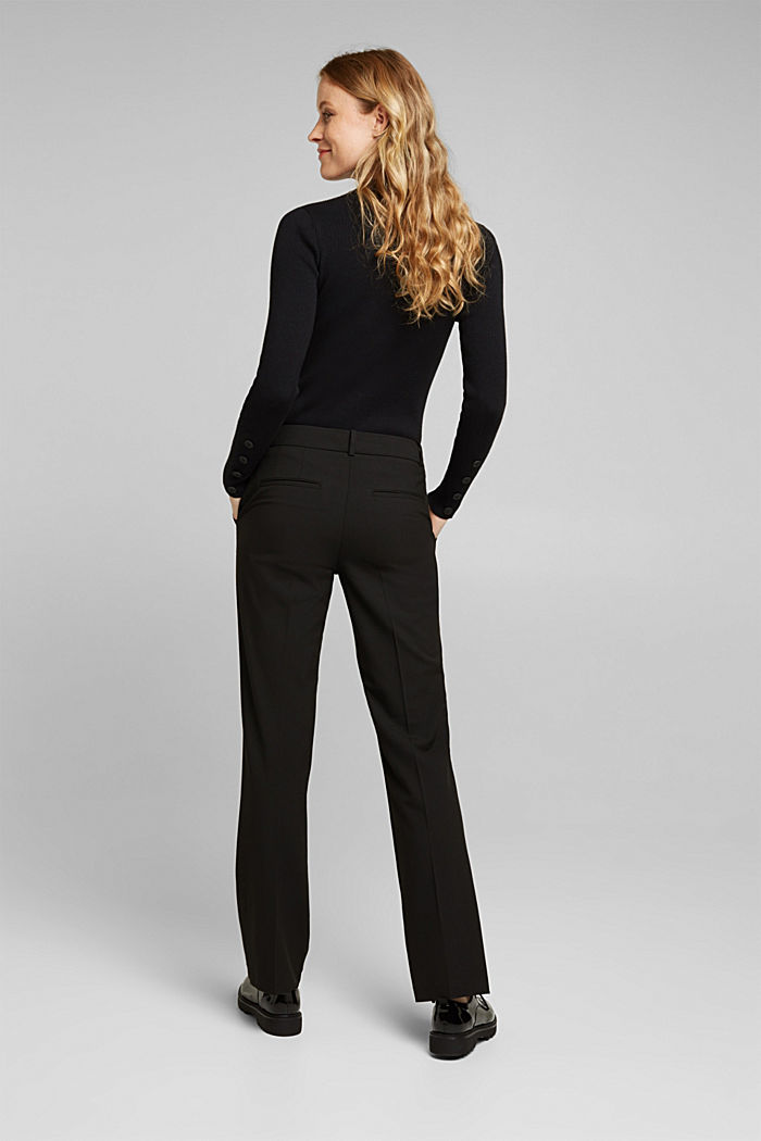 Jersey trousers with stretch for comfort, BLACK, detail image number 3