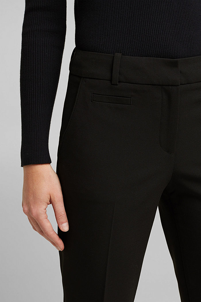 Jersey trousers with stretch for comfort, BLACK, detail image number 2