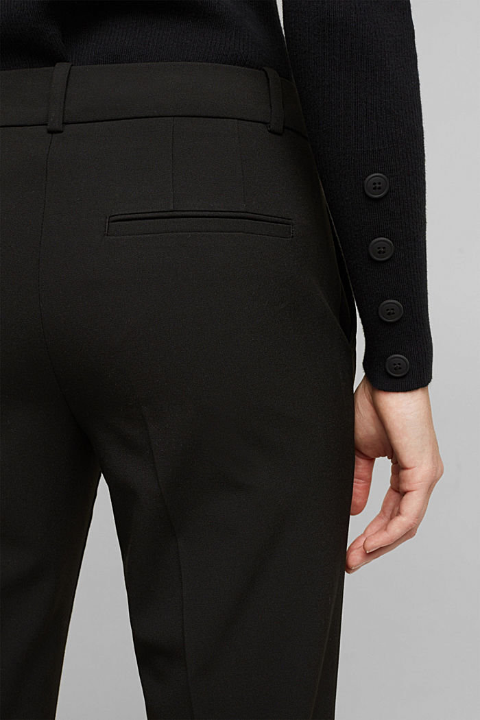 Jersey trousers with stretch for comfort, BLACK, detail image number 5