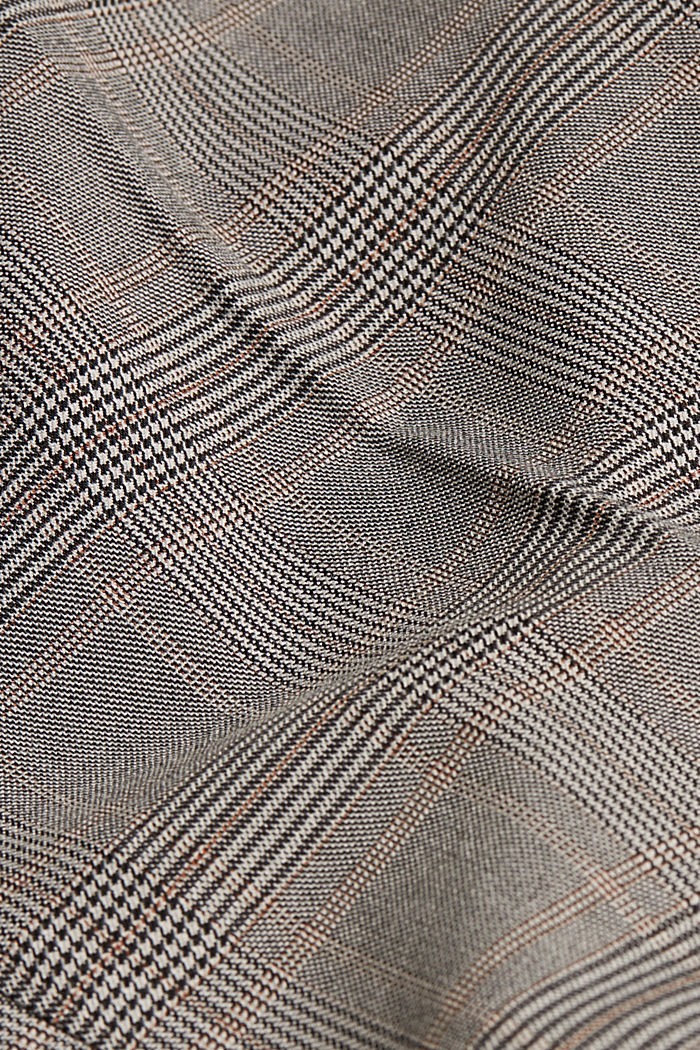 Stretchy trousers with a Prince of Wales check pattern, BEIGE, detail image number 4