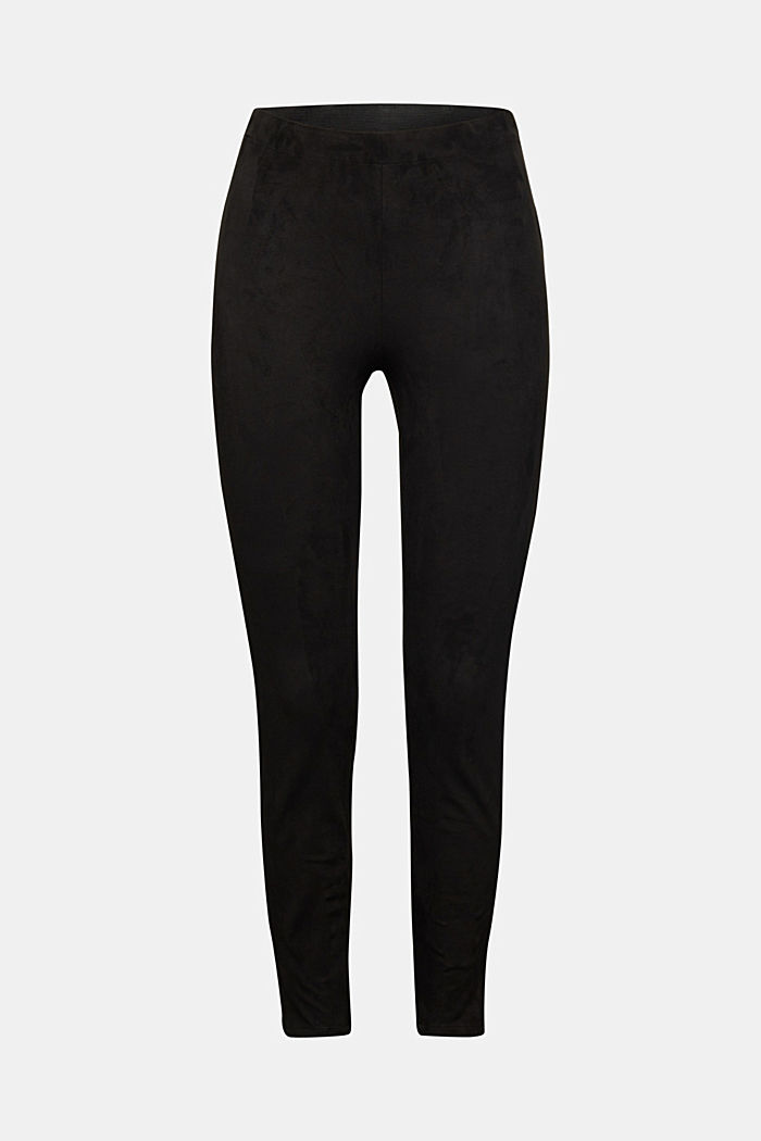 Recycled: Faux suede treggings, BLACK, detail image number 6