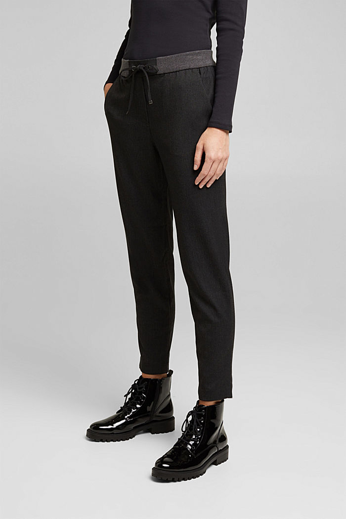 Stretch trousers in a tracksuit bottom style