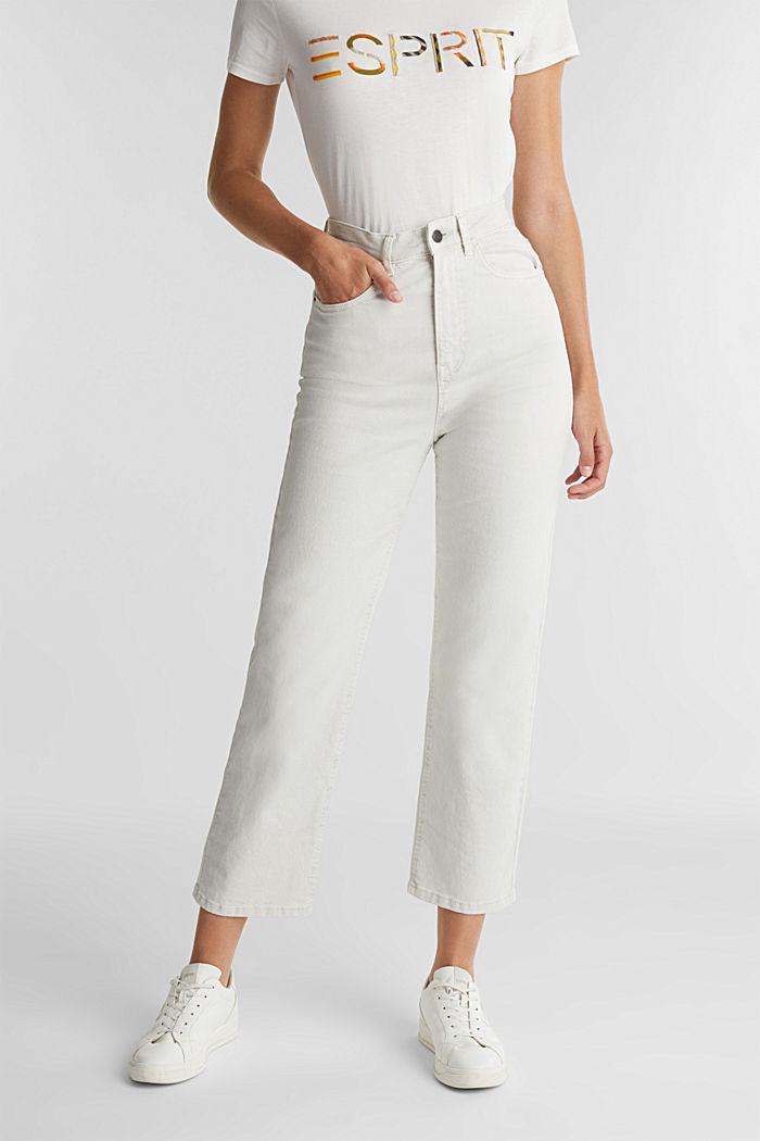 Enkellange high rise jeans, LIGHT GREY, detail image number 0