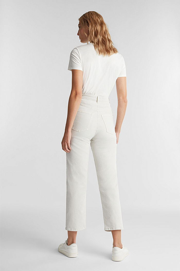 Ankle-length, high-rise jeans, LIGHT GREY, detail image number 3