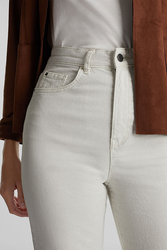 Ankle-length, high-rise jeans, LIGHT GREY, detail image number 2