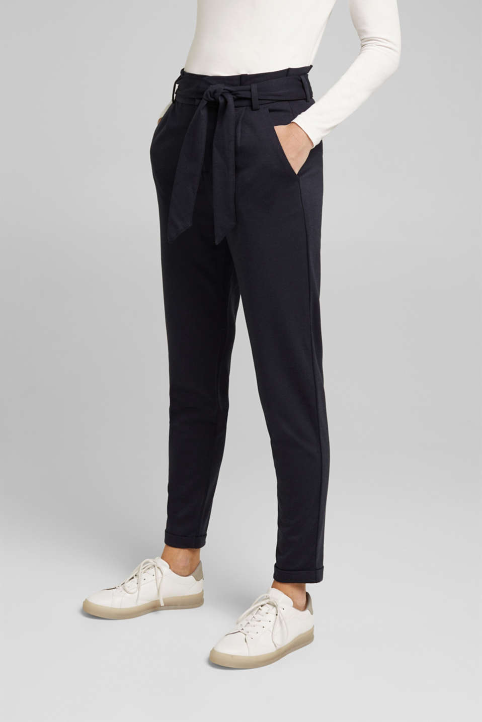 Esprit - Jersey chino met comfortabele stretch