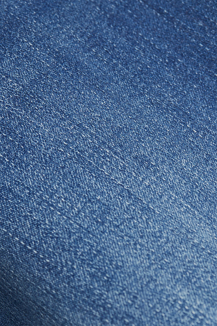 Super stretch jeans with organic cotton, BLUE MEDIUM WASHED, detail image number 4