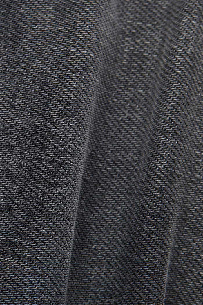 Washed-out jeans, organic cotton, GREY MEDIUM WASHED, detail image number 4