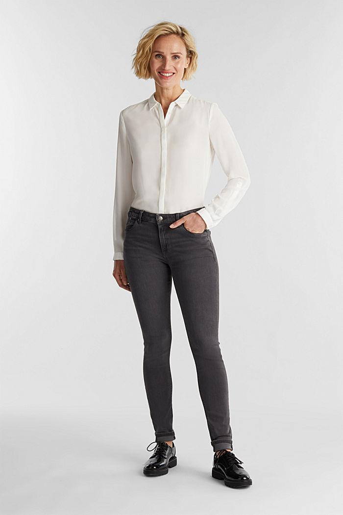 Super stretch skinny jeans, GREY DARK WASHED, detail image number 1