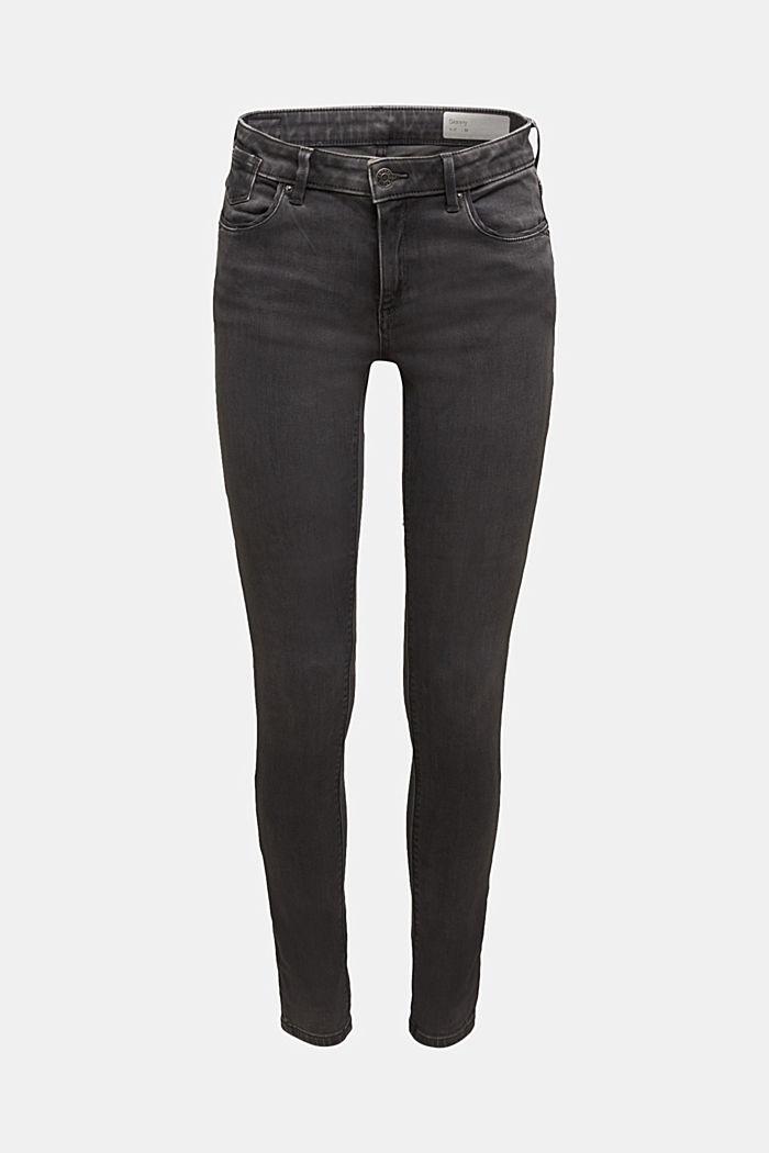 Super stretch skinny jeans, GREY DARK WASHED, detail image number 6