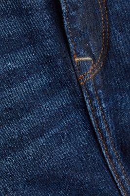 Denim culottes in a washed look, BLUE DARK WASH, detail