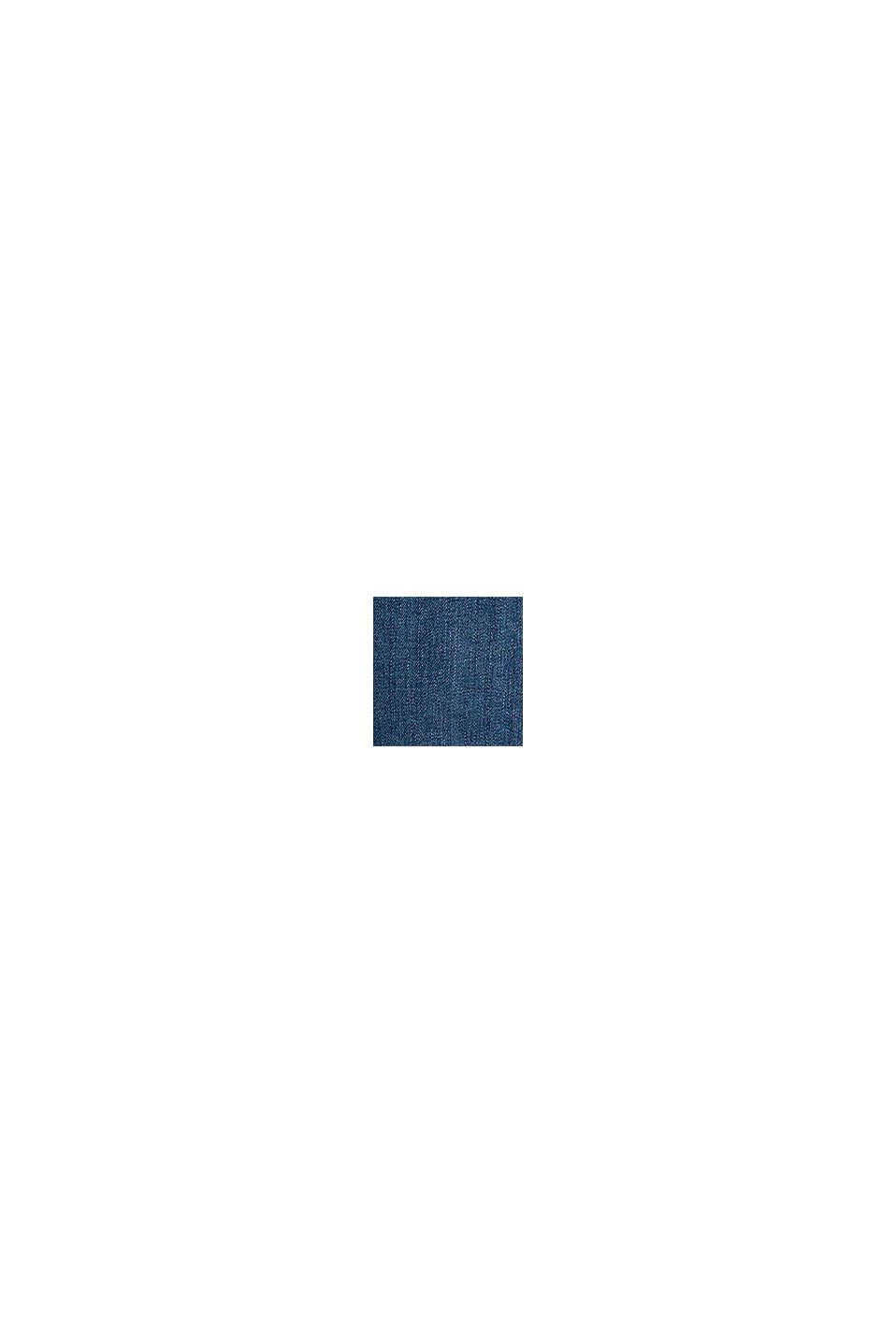 Vaqueros culotte con efecto deslavado, BLUE DARK WASHED, swatch