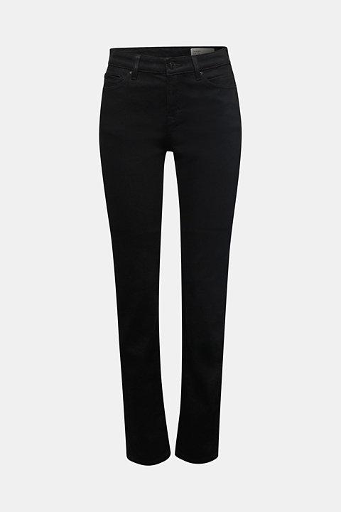 Jet black organic cotton jeans