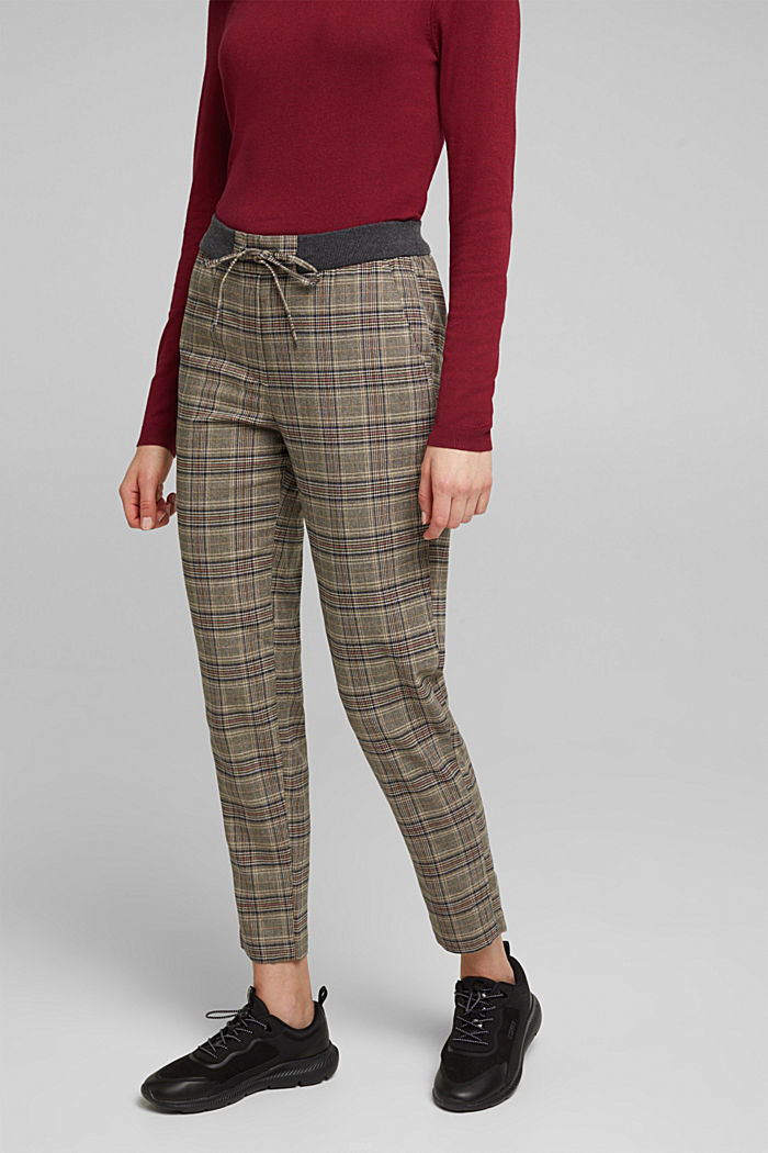 CHECKS mix + match trousers, CAMEL, detail image number 0