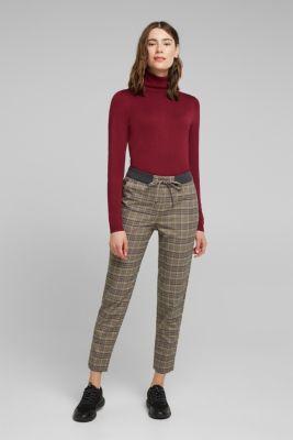 CHECKS mix + match trousers, CAMEL, detail
