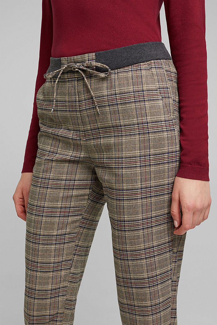 CHECKS mix + match trousers, CAMEL, detail image number 5