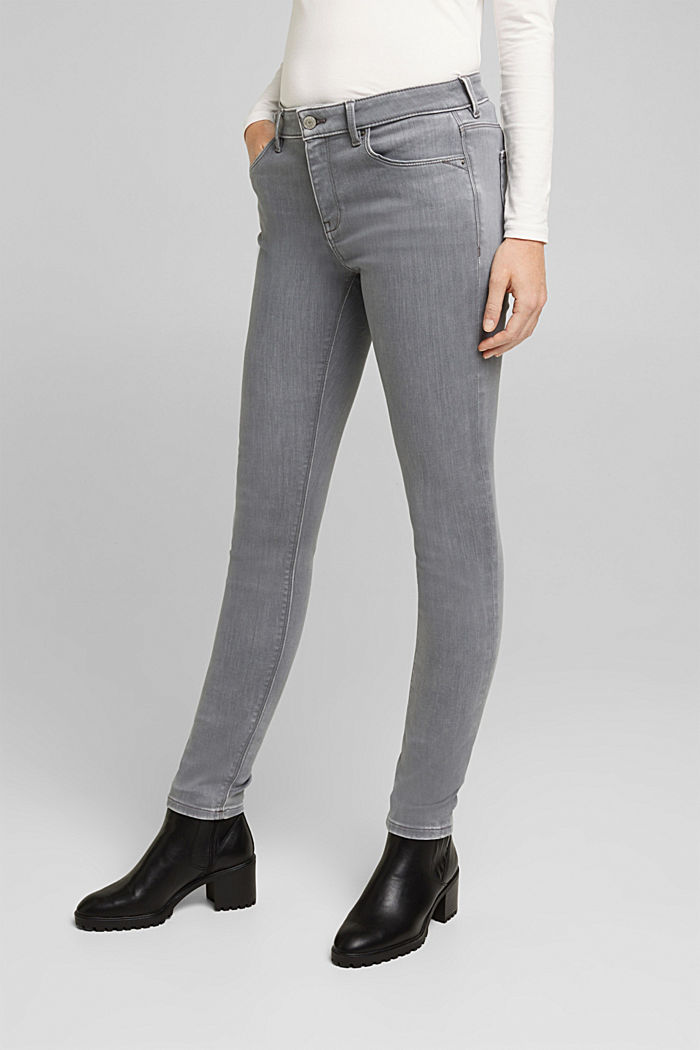 Skinny Jeans mit Kaschmir-Touch, GREY MEDIUM WASHED, detail image number 0