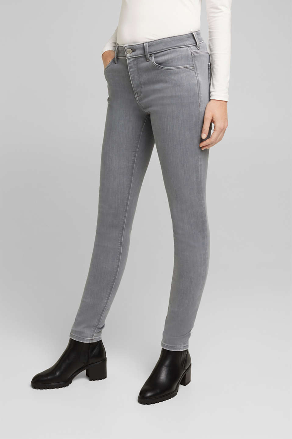 Esprit - Skinny jeans with a touch of cashmere