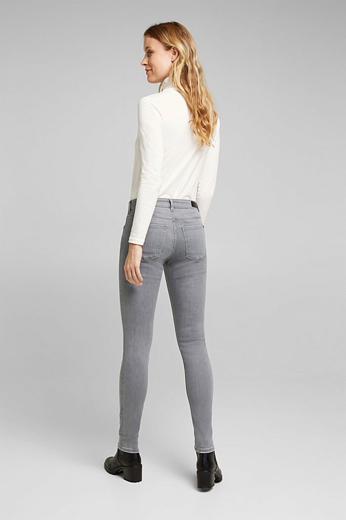 Skinny Jeans mit Kaschmir-Touch, GREY MEDIUM WASHED, detail image number 3