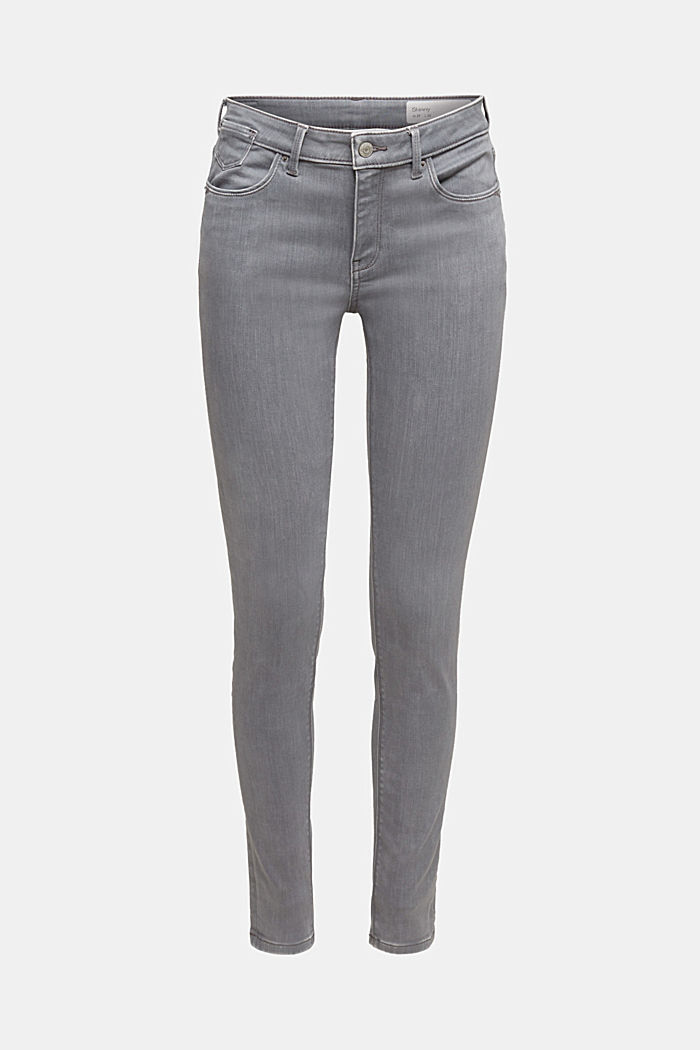 Skinny Jeans mit Kaschmir-Touch, GREY MEDIUM WASHED, detail image number 6