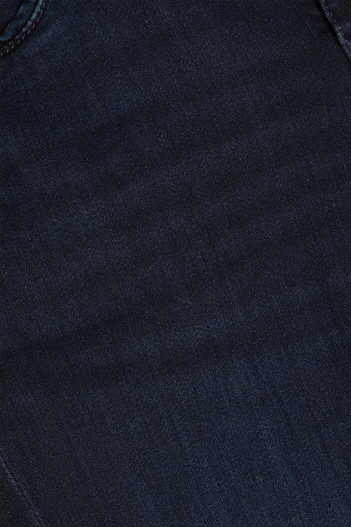 Super stretch jeans with organic cotton, BLUE BLACK, detail image number 4