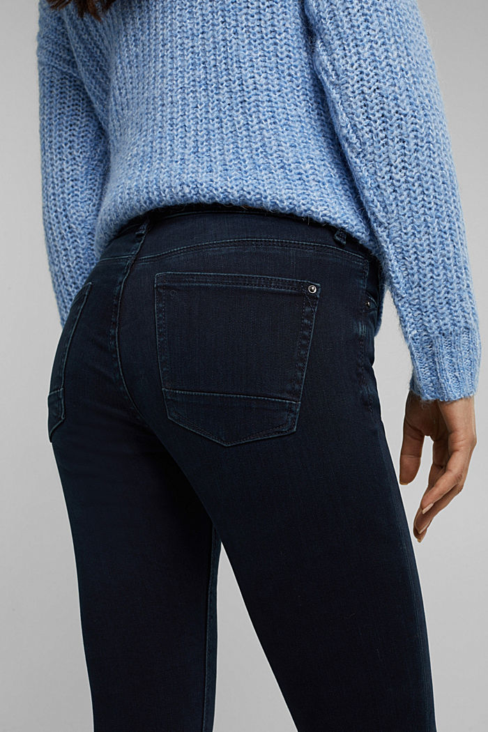 Super stretch jeans with organic cotton, BLUE BLACK, detail image number 5