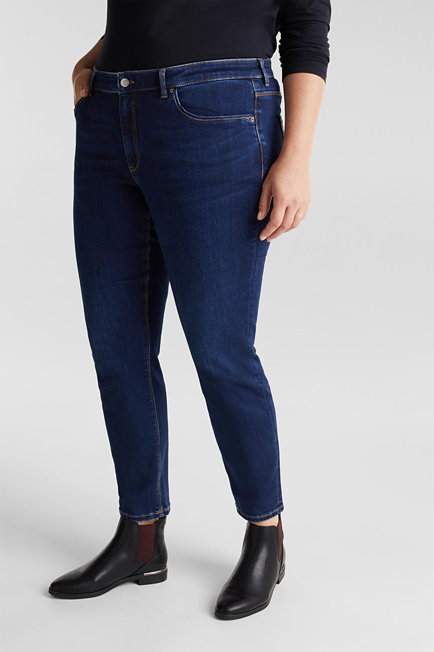 CURVY jeans with a touch of cashmere