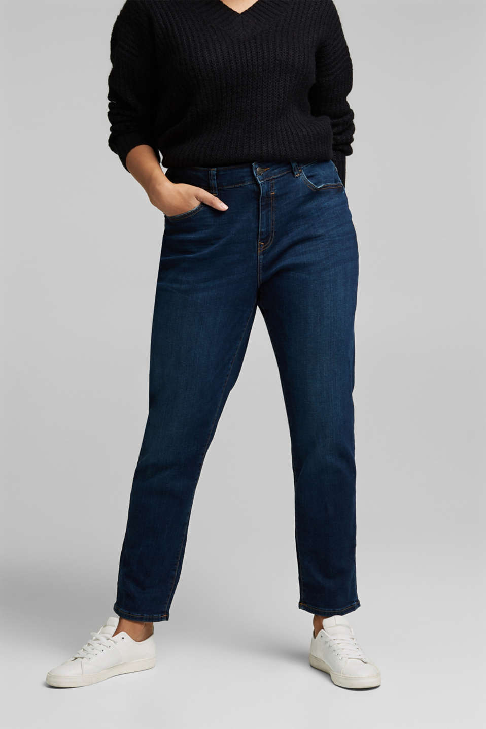 Esprit - CURVY stretch jeans, organic cotton