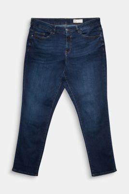 CURVY stretch jeans, organic cotton, BLUE DARK WASH, detail
