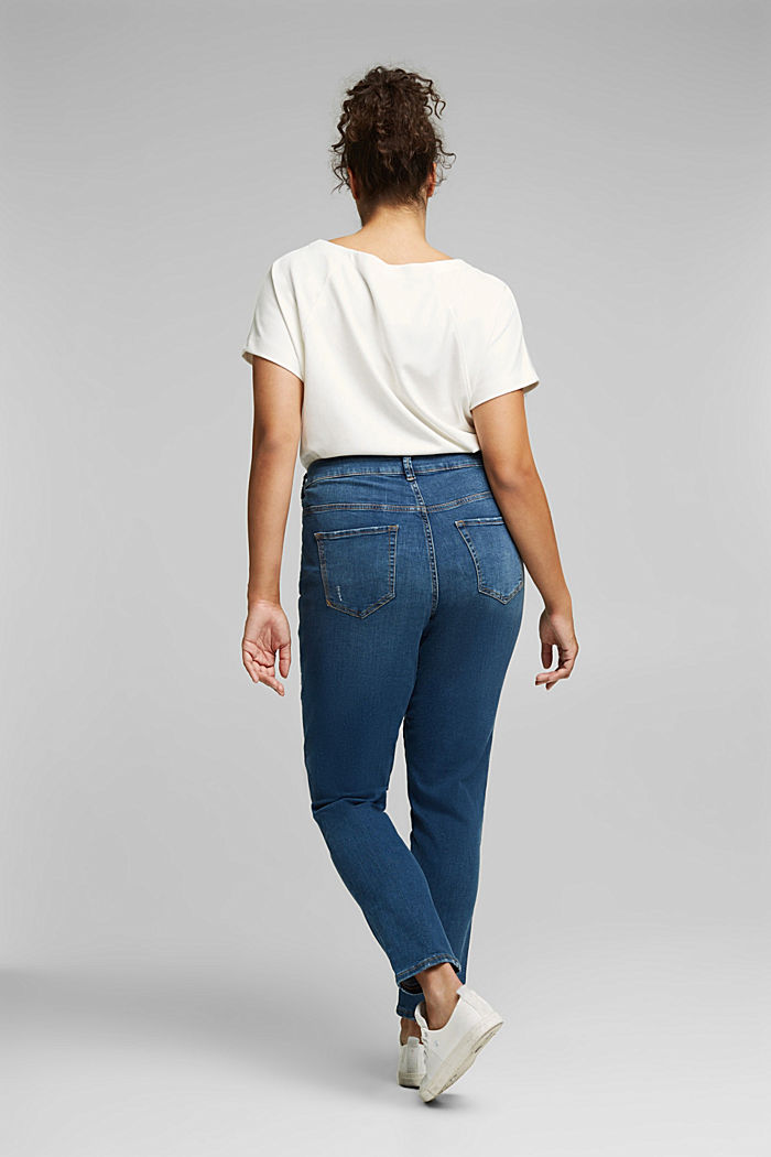 CURVY stretch jeans, organic cotton, BLUE MEDIUM WASHED, detail image number 3