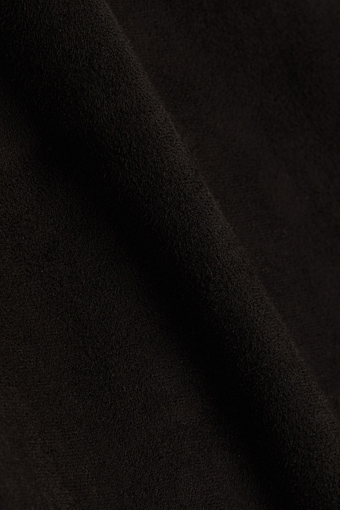 Curvy, faux suede treggings, BLACK, detail image number 4