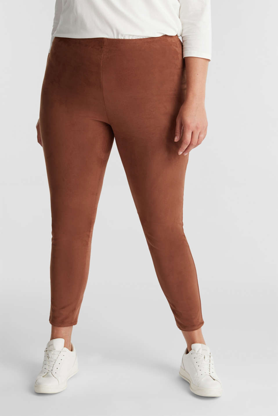 Esprit - Treggings Curvy au look cuir velours