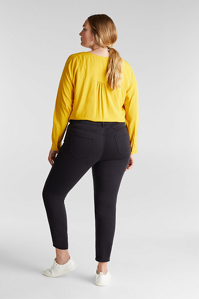 CURVY trousers with organic cotton, BLACK, detail image number 2