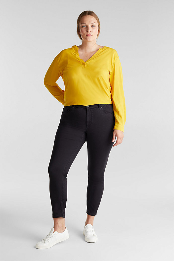CURVY trousers with organic cotton