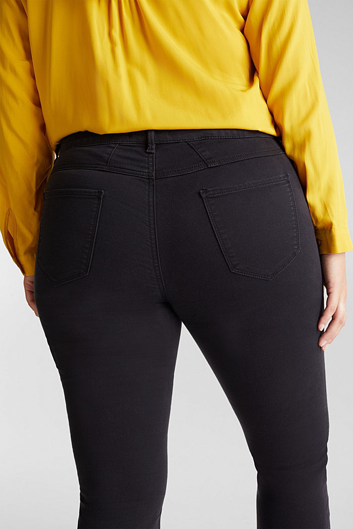 CURVY trousers with organic cotton, BLACK, detail image number 4