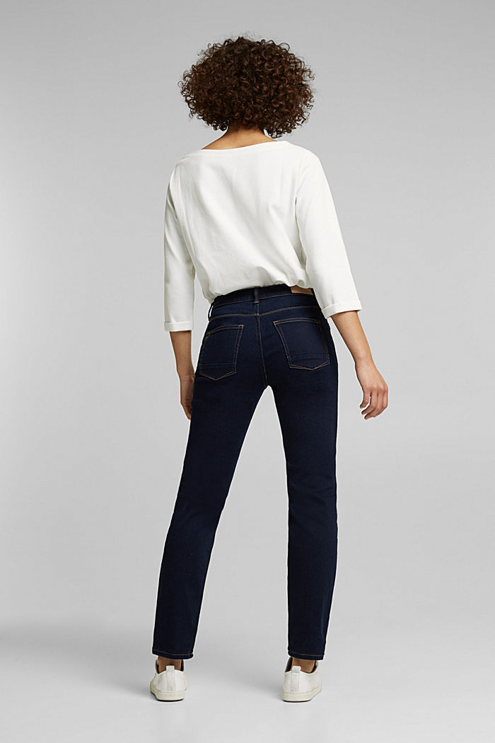 Super stretch jeans with organic cotton, BLUE RINSE, detail image number 3