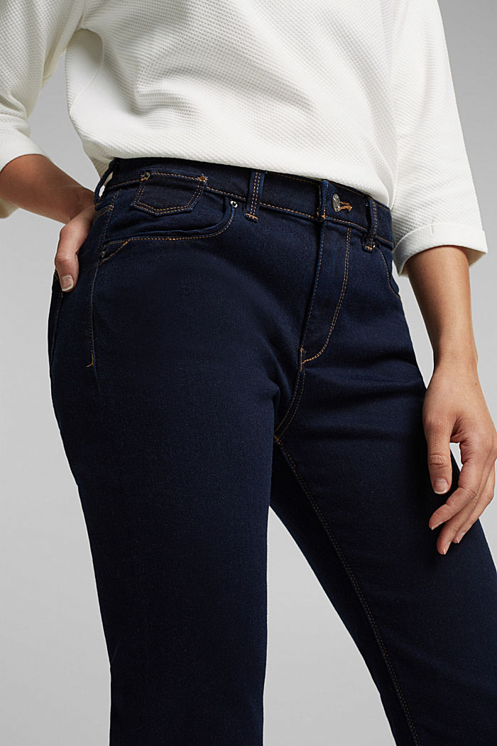 Super stretch jeans with organic cotton, BLUE RINSE, detail image number 2