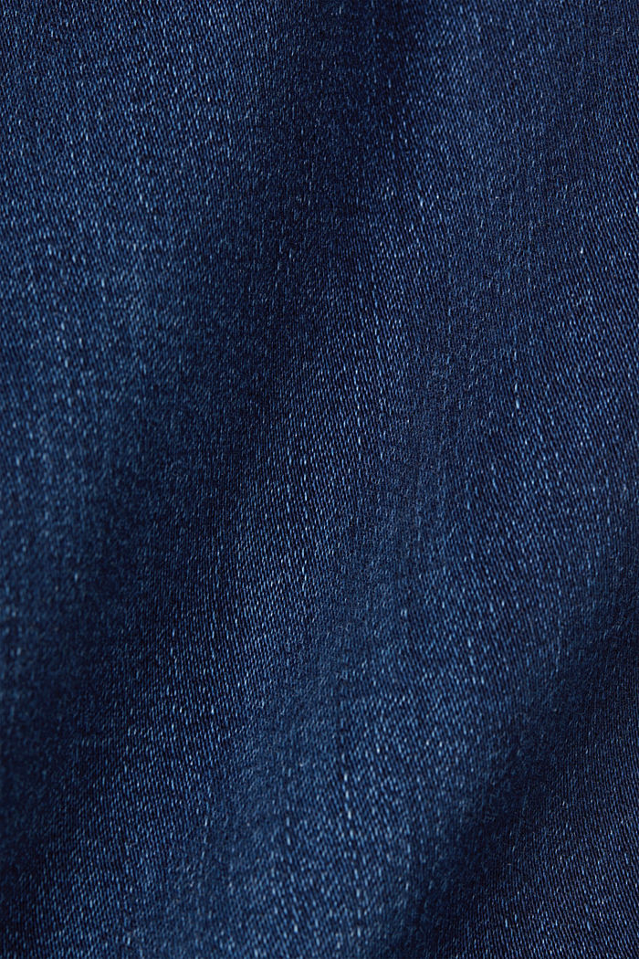 Super stretch jeans with organic cotton, BLUE DARK WASHED, detail image number 4