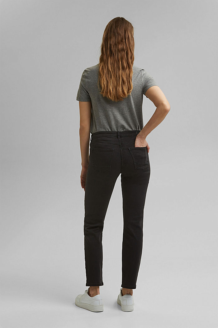 Super stretch jeans with organic cotton, BLACK DARK WASHED, detail image number 3
