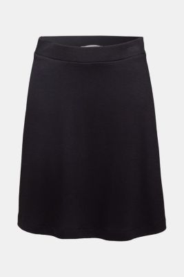 Jersey skirt with stretch for comfort, BLACK, detail