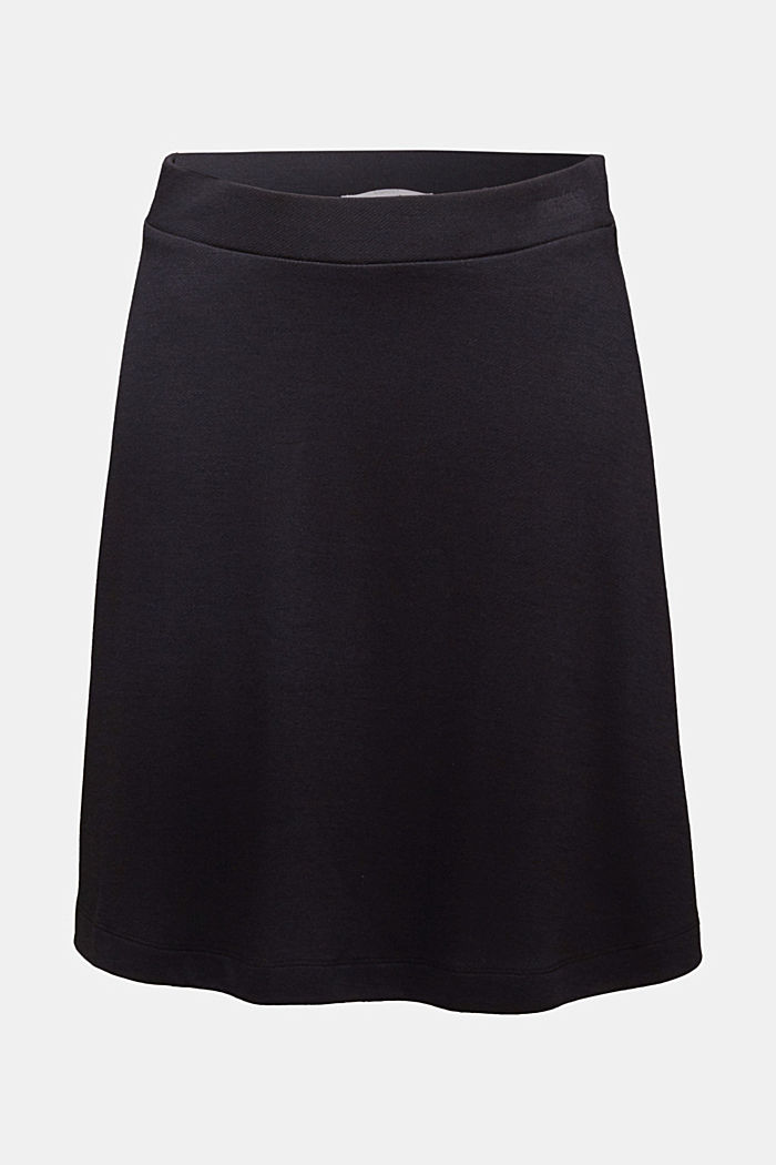 Jersey skirt with stretch for comfort, BLACK, detail image number 4