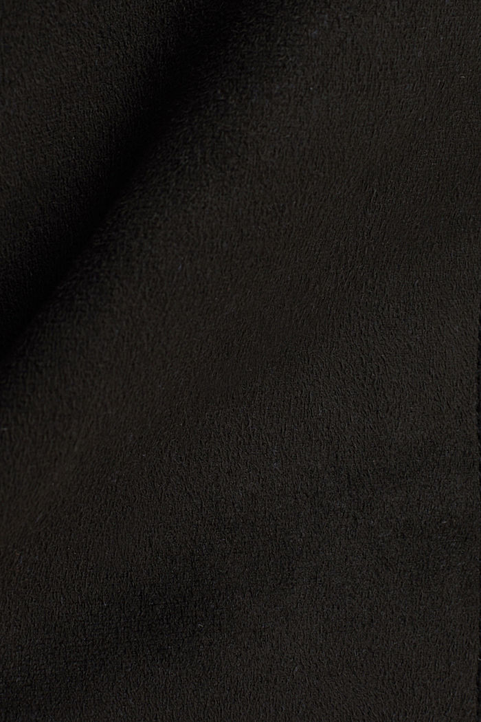 Recycled: mini skirt made of suede , BLACK, detail image number 4