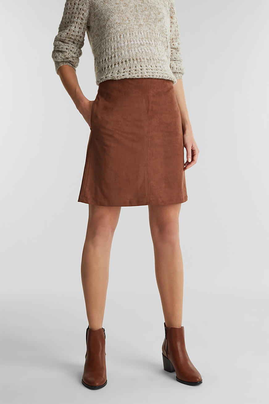Recycled: mini skirt made of suede