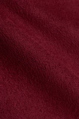 Recycled: mini skirt made of suede , BORDEAUX RED, detail